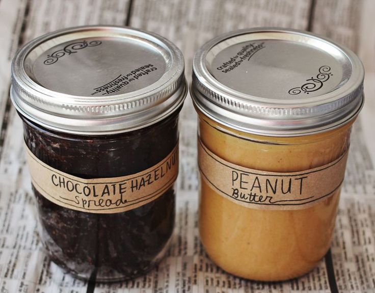 Yummy homemade peanut butter, and hazelnut chocolate spread