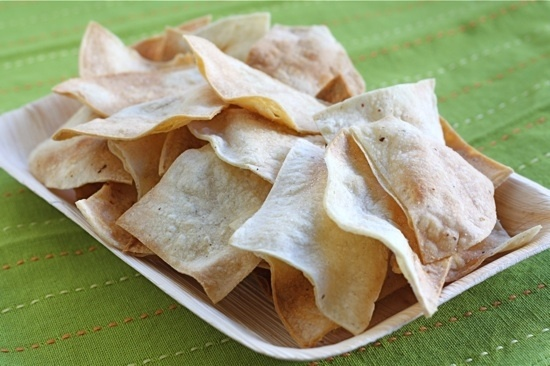 Homemade Baked Tortilla Chips | Yummy things | Pinterest
