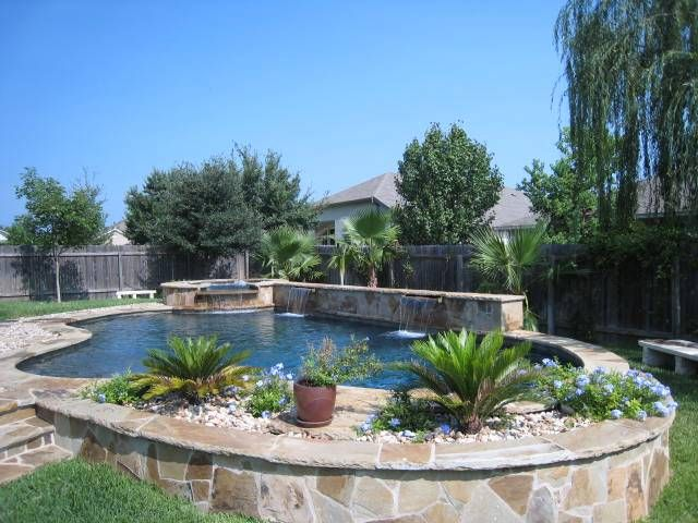 Above Ground Pool On A Sloped Backyard : Above Ground Pool Landscapinghigh value of a pool i decided to