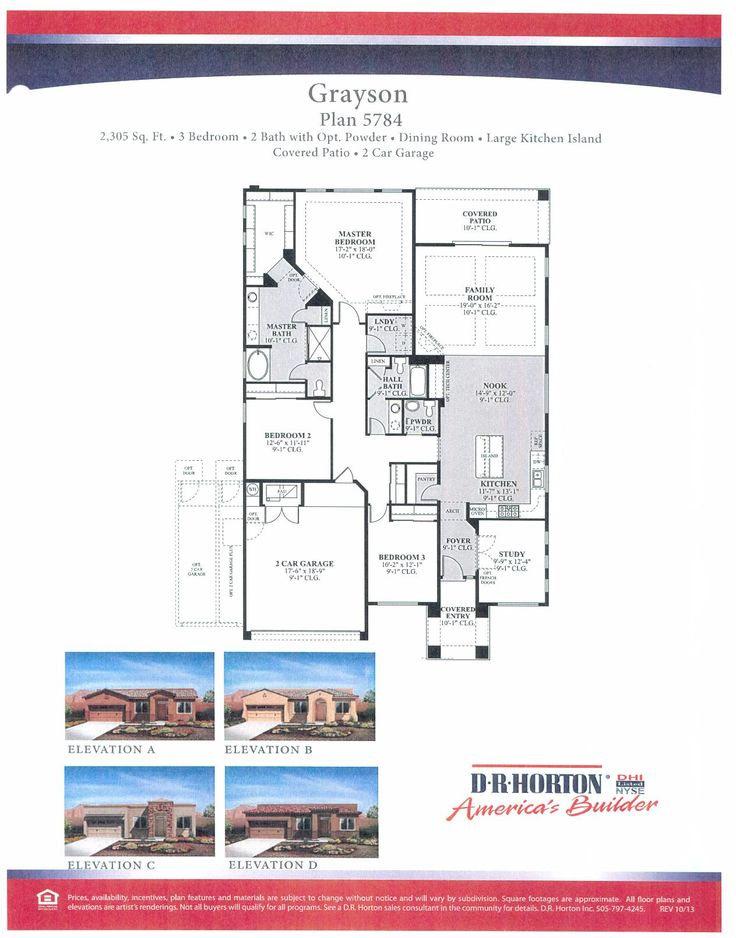 dr horton grayson floor plan | DR Horton Floor Plans