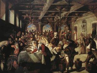Nozze di Cana Tintoretto Santa Maria della Salute