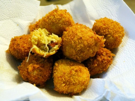 ... version of Sausage and Sauerkraut Fritters. I've used panko-like