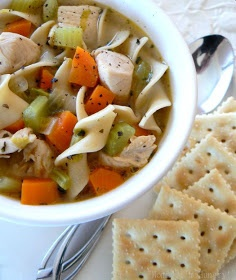 Quick and easy Chicken Noodle Soup | food | Pinterest