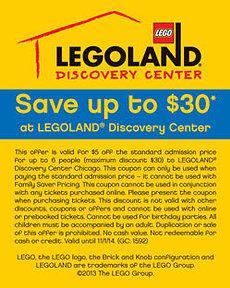 Legoland discovery center boston coupons