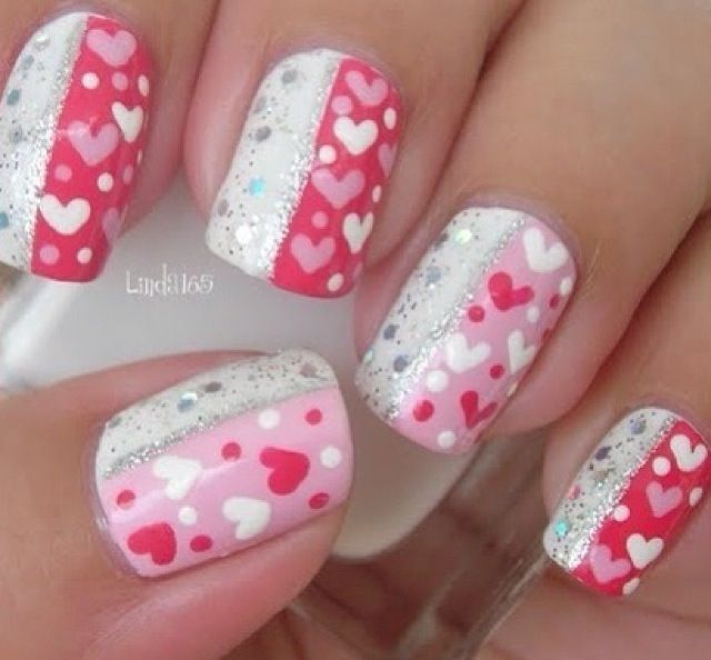 valentine's day nail images