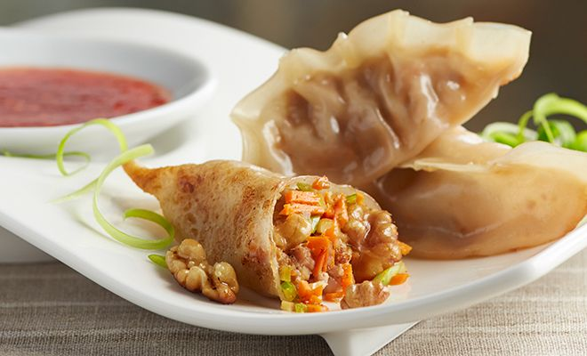 Pork, Shrimp & Walnut Pot Stickers - Mollie Katzen