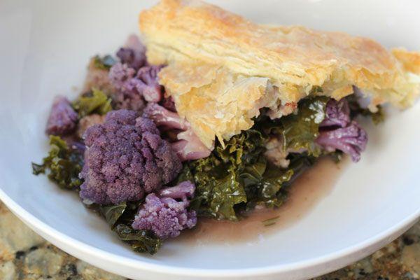 Cauliflower, sausage, and kale pot pie | Kimmy's Bake Shop | Pinterest