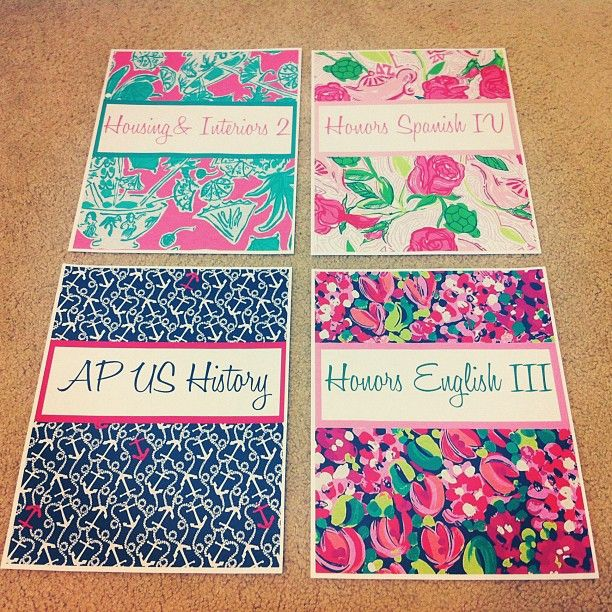 Lilly pulitzer binder covers i want to do this really bad if you