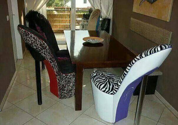 high heel chair luxury home decor
