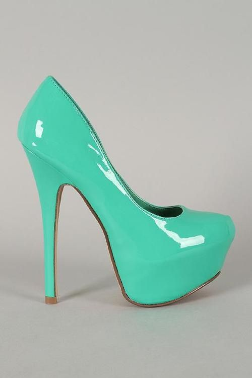 bright green mint high heeled shoes beautiful shoes