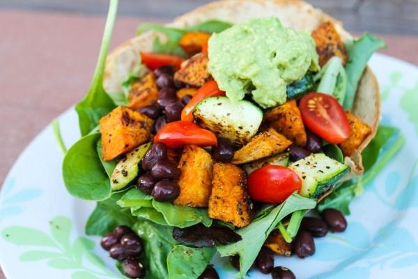 Sweet Potato Black Bean Tostada Bowl | Recipes | Pinterest