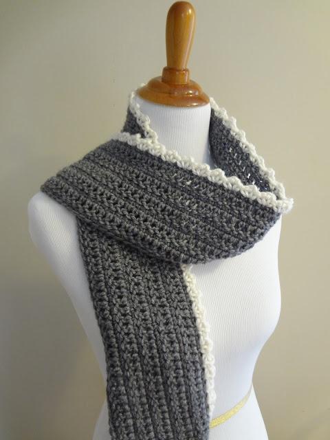Great edging idea for a crochet scarf... Crochet Pinterest