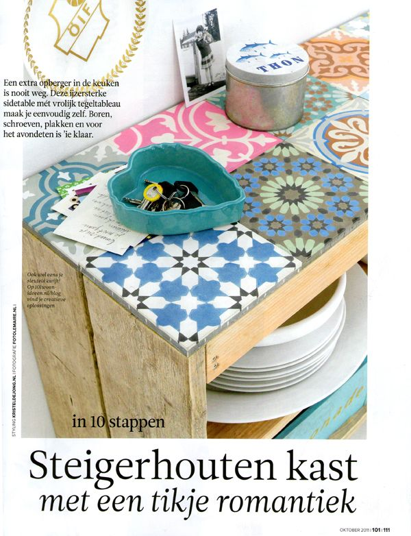 great DIY idea with pretty tiles