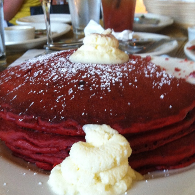 Red velvet pancakes! With cream cheese! | Sweet Tooth Time | Pinterest