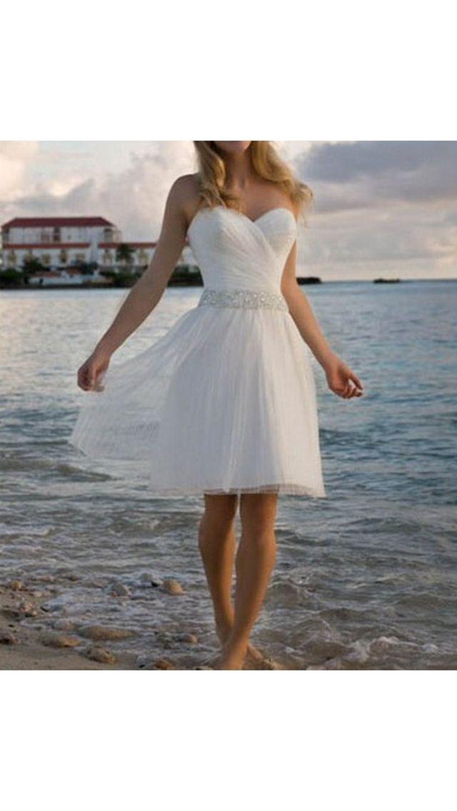 Short beach wedding dresses pinterest for Beach wedding bridesmaid dresses pinterest