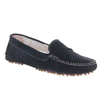 Office Karriage Navy Suede - Flats
