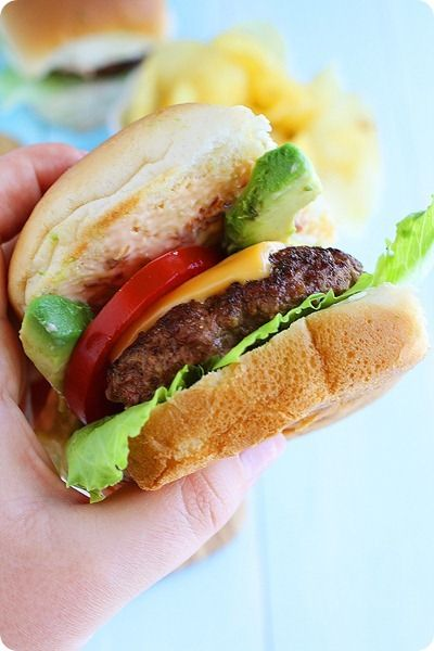 Beef Sliders with Avocado and Chipotle Mayo | Recipe