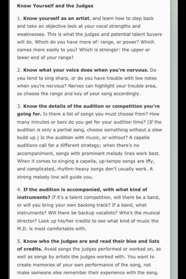 acting audition tips This is why i created the audition technique  audition tips  in order to be an actor you must audition join our online acting class devised by casting.