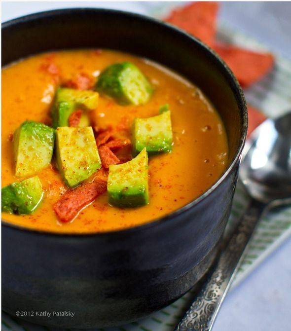 Healthy Vegan Sweet Potato Soup   Yummy Recipies   Pinterest