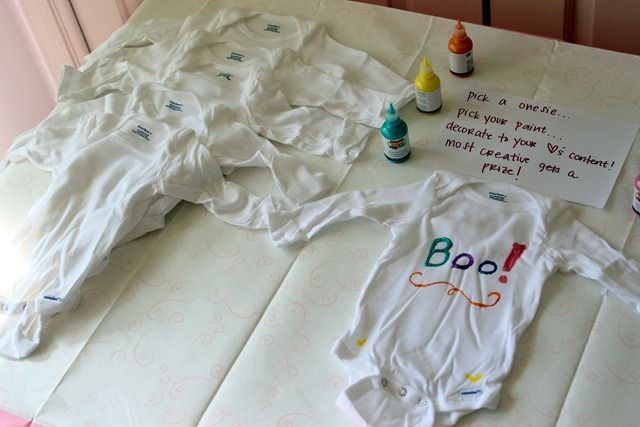 baby shower onesie decorating ideas onesie decorating station at a