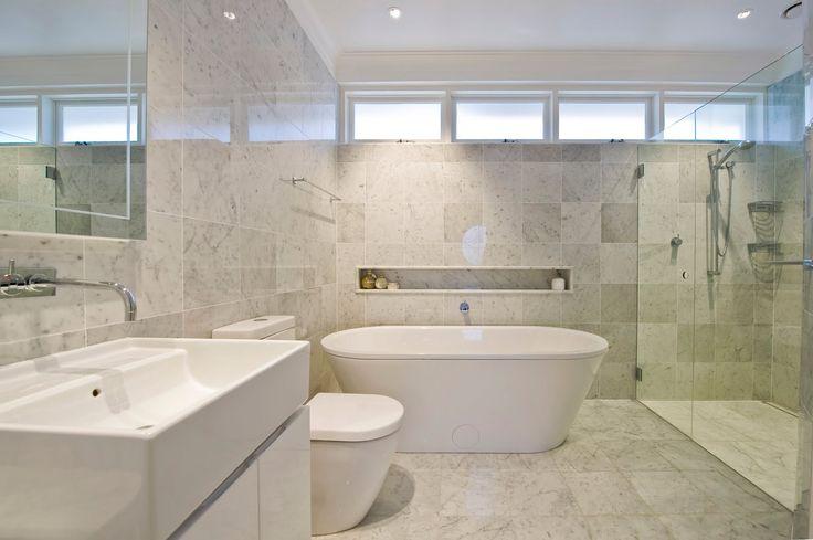 Carrara Marble Bathroom For The Home Pinterest