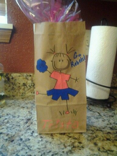 Treat Bag Ideas For Cheerleaders