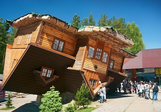 The Upside Down House In Szymbark Poland Pinterest