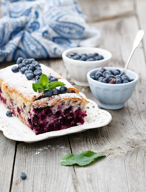 torta di yogurt e mirtilli / blueberries & yogurt cake