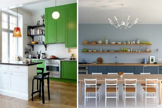 White, green, and marine blue cabs  Kitchen  Pinterest