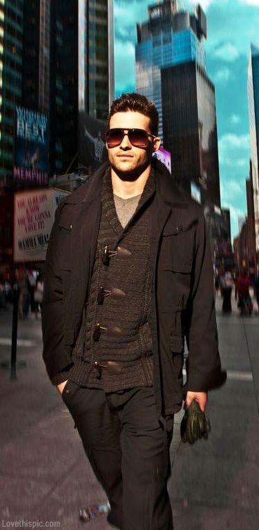 Sophisticated style hot guys autumn style layers coat men's fashion