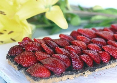 ... chocolate and hazelnut tart. Maybe this or the brown butter raspberry