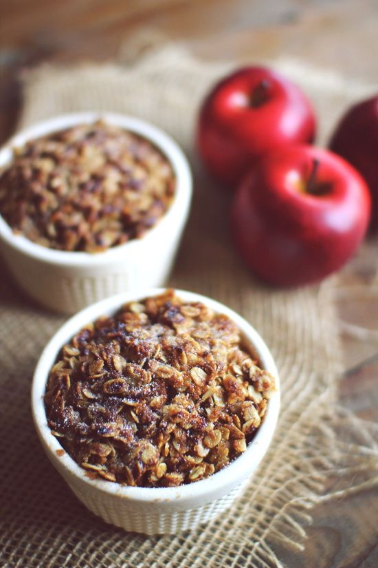 Low Sugar Apple Crisp for Two! Less than 200 Calories and only 5 ...