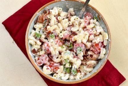 Creamy BLT pasta salad recipe #pasta #salad #recipe