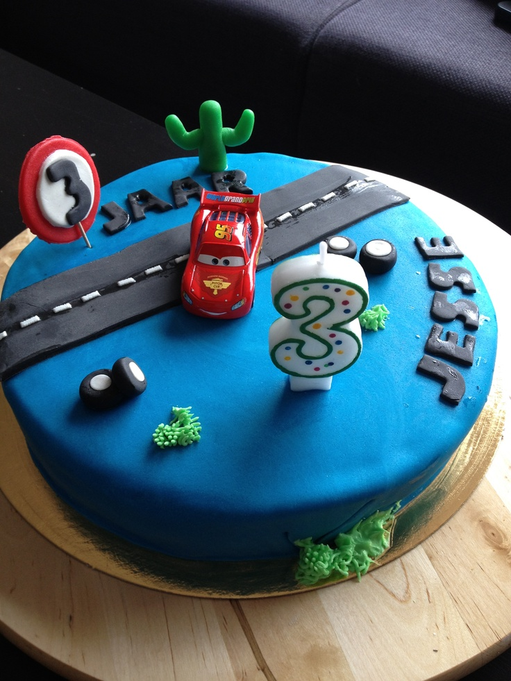 Cars cake  Jacob cars birthday  Pinterest