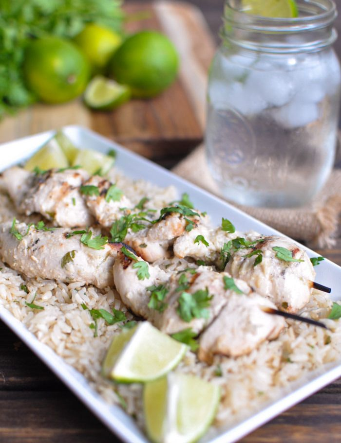 Coconut Lime Chicken with Cilantro Brown Rice | Recipe
