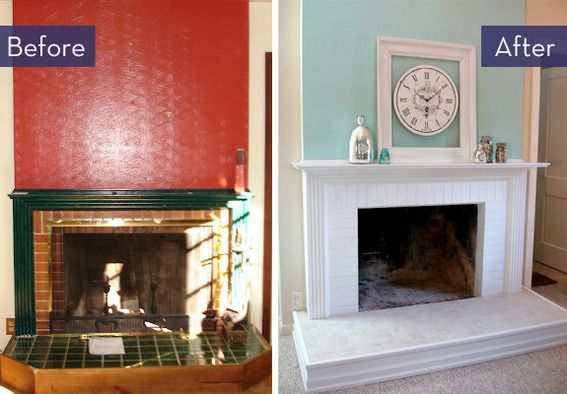Before and after 5 budget friendly fireplace makeovers for Fireplace makeover ideas before and after