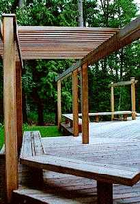 will have a pergola and built in sectional on my deck by my grad ...