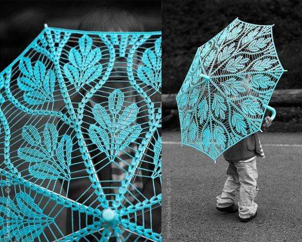 Crochet Umbrella : Crochet umbrella. Knitting Crochet Weaving Pinterest