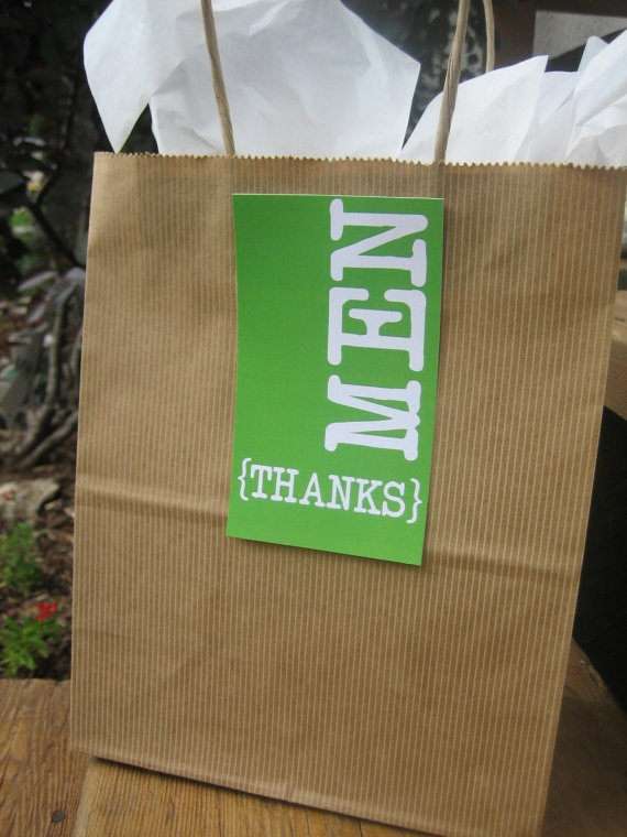Wedding Gift Bags For Groomsmen : Groomsman Thank You Gift Bag Card My forever starts now!! Pintere ...