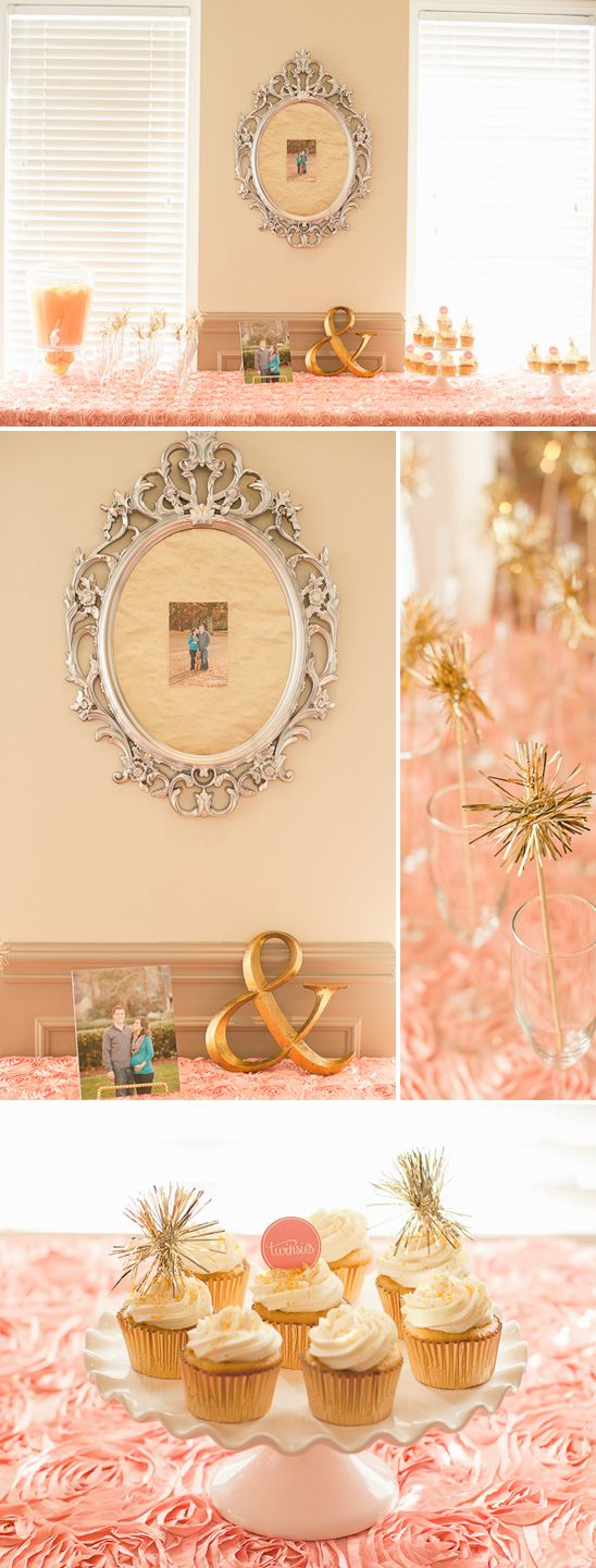 pink and gold baby shower for twin girls baby showers pinterest