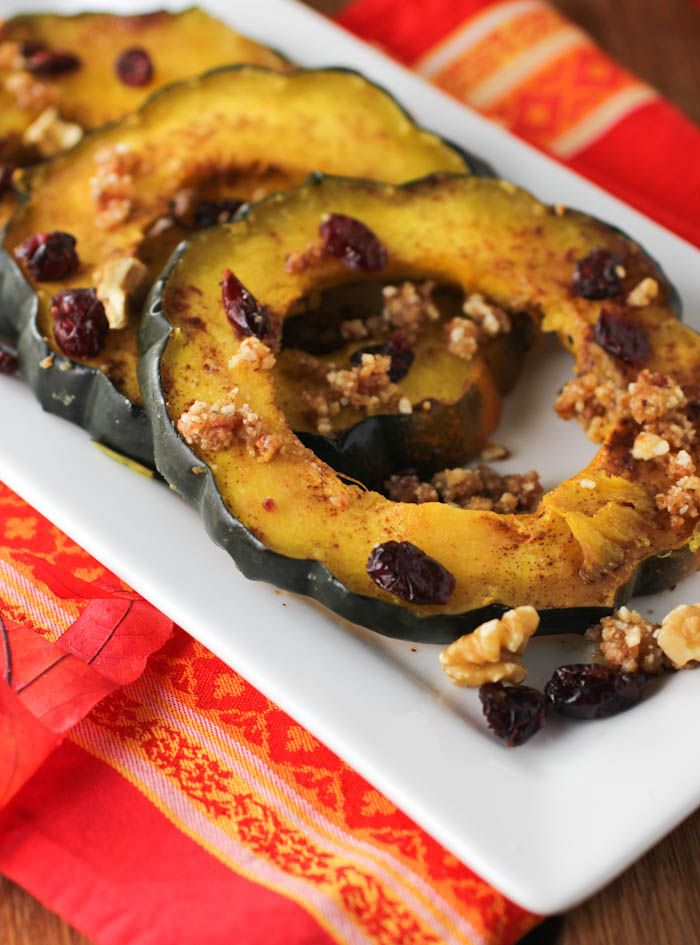Maple-Roasted Acorn Squash Rings | thanksgiving | Pinterest
