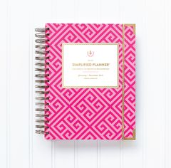 2015 Simplified Planner® DAILY Edition - Pink Key