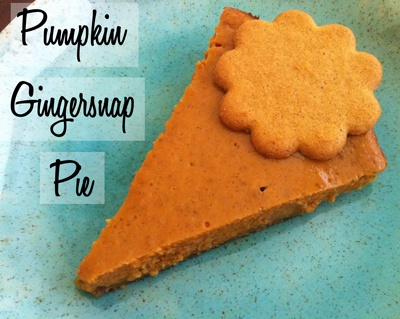 Pumpkin Gingersnap Pie - @Lisa Frank - this one's for you! :)