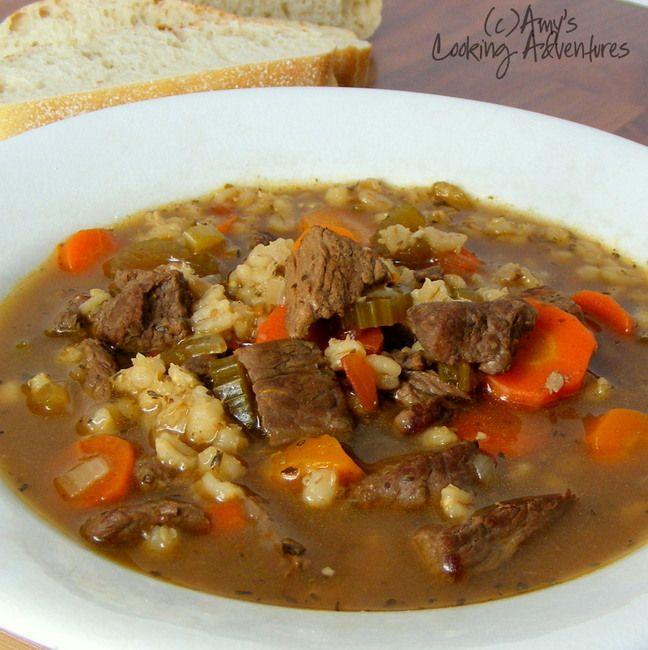 Beef Barley Soup | My kind of food. | Pinterest