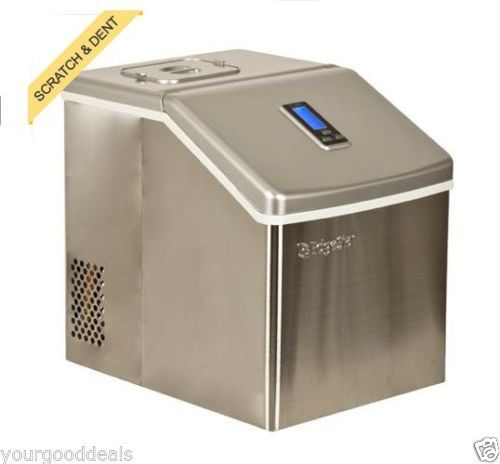 ... Steel Portable Clear Ice Maker Countertop Ice Cube Machine eBay