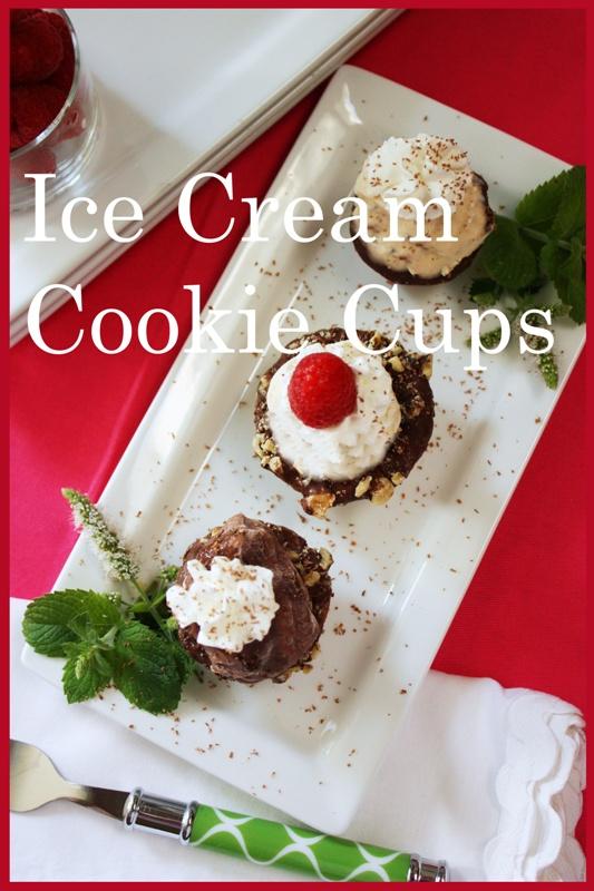 StoneGable: MINI ICE CREAM COOKIE CUPS | Ice Cream & Frozen Desserts ...