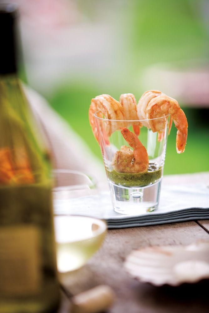 shrimp with chimichurri sauce the sauce is goooood also good with ...