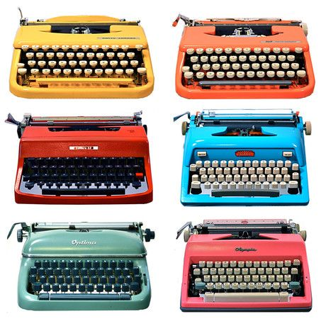 Colourful typewriters