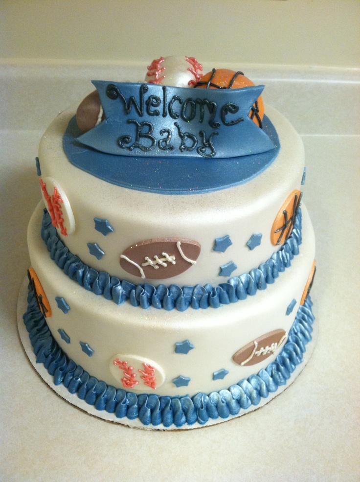 sports theme baby shower cake shower ideas pinterest