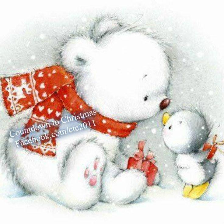 Christmas polar bear clipart - photo#25